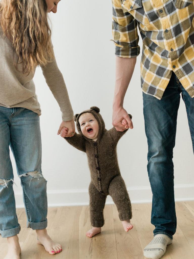 family photo session bear pajamas